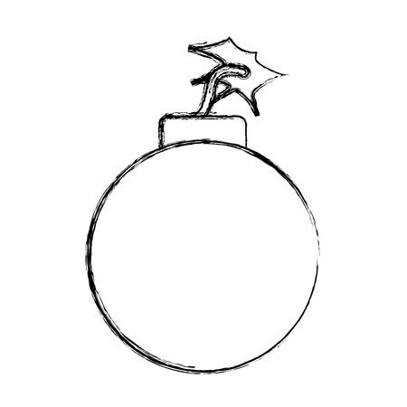bomb danger explotion error attack icon vector illustration doodle graphic Illustration
