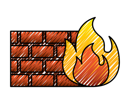 brick wall blocks construction concret image vector illustration drawing graphic
