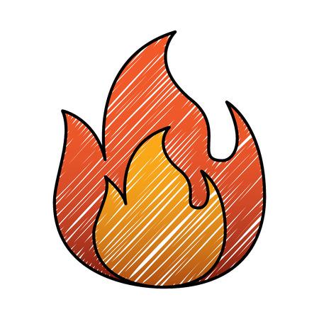 화재 불꽃 레코딩 위험 뜨거운 이미지 벡터 일러스트 레이 션 드로잉 그래픽
