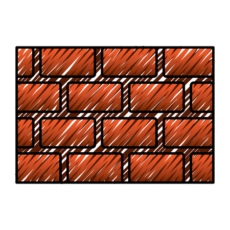 brick wall blocks construction concret image vector illustration drawing graphic Stock fotó - 96030262