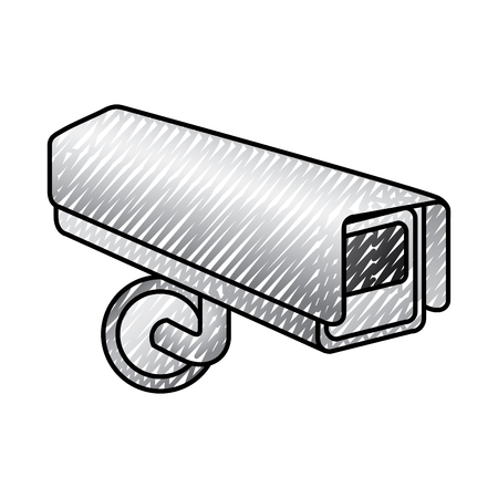 surveillance camera warning privacy safety vector illustration drawing graphic Illustration