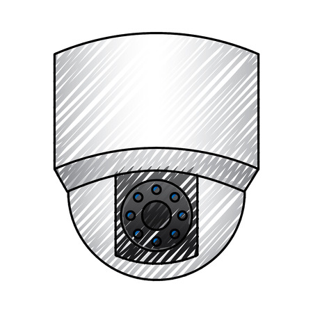ceiling surveillance camera security technology vector illustration drawing graphic Illustration
