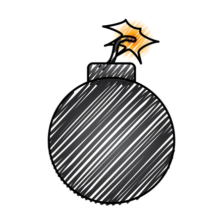 bomb danger explotion error attack icon vector illustration drawing graphic