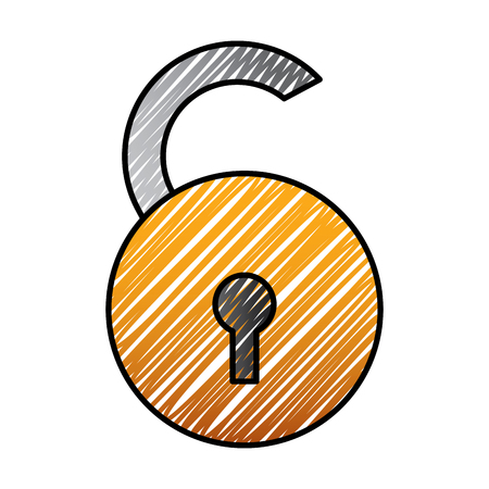 open padlock ecurity risk attack protection vector illustration drawing graphic 版權商用圖片 - 96031595