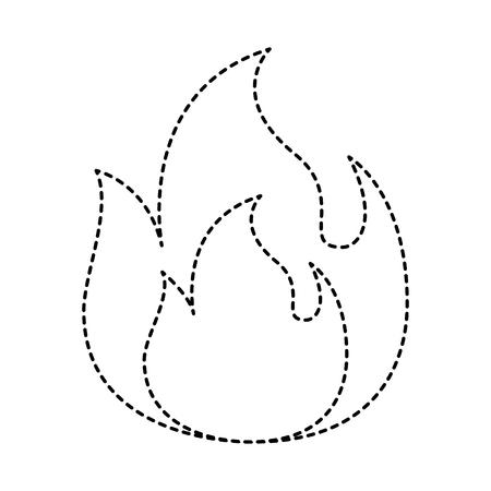 화재 불꽃 레코딩 위험 뜨거운 이미지 벡터 일러스트 레이 션 점선 그래픽