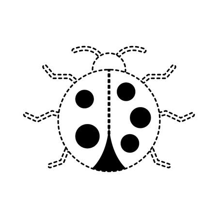 virus bug alert error insect animal vector illustration dotted line graphic Illustration
