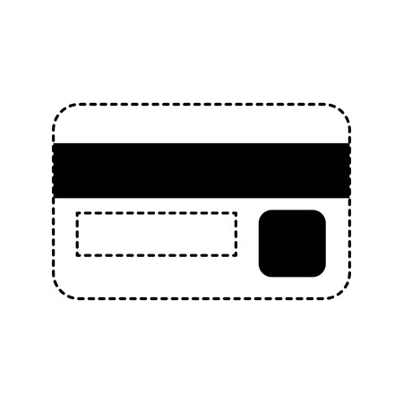 bank credit card money safety icon vector illustration dotted line graphic