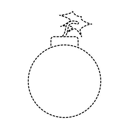 bomb danger explotion error attack icon vector illustration dotted line graphic Illustration