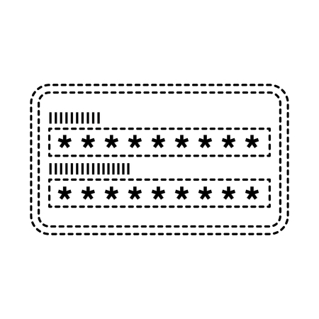 security access password login protection vector illustration dotted line graphic