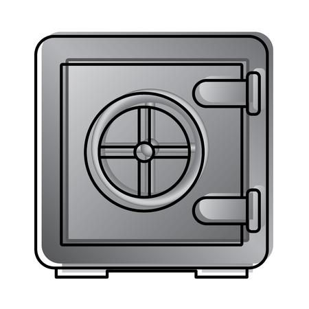 Caja segura metálica con seguridad cerrada seguridad de seguridad de ilustración de vector de reciclaje Foto de archivo - 96040543