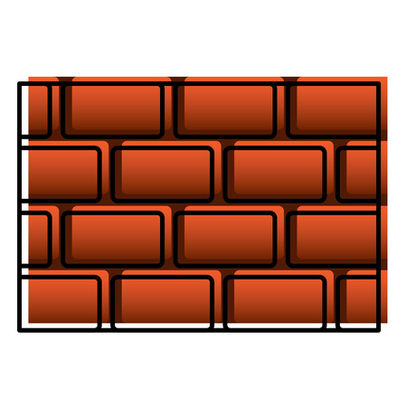 brick wall blocks construction concret image vector illustration Illustration