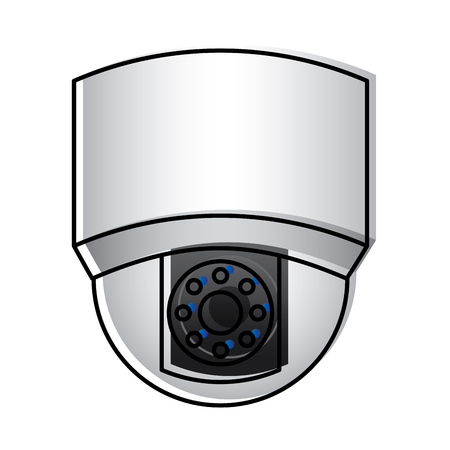 ceiling surveillance camera security technology vector illustration