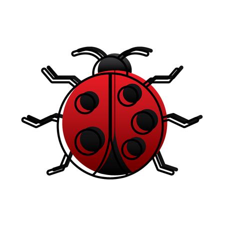 virus bug alert error insect animal vector illustration