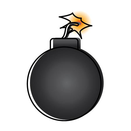 bomb danger explosion error attack icon vector illustration Illustration