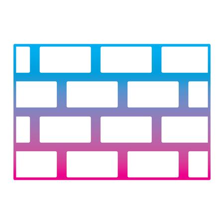 brick wall blocks construction concrete image vector illustration degrade color line graphic