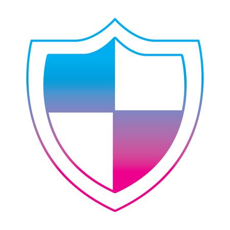 shield protection secure information data symbol vector illustration degrade color line graphic Illustration