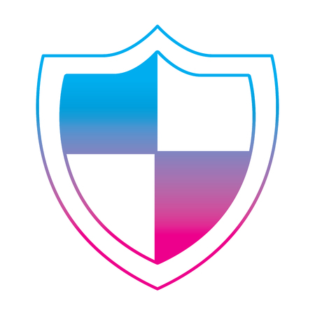 shield protection secure information data symbol vector illustration degrade color line graphic 向量圖像