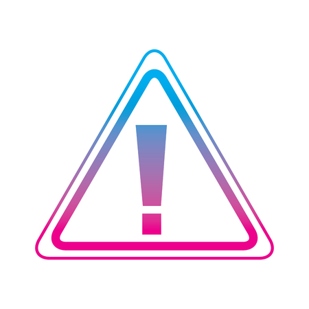 sign board warning alert error symbol vector illustration degrade color line graphic