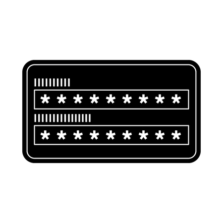 security access password login protection vector illustration black and white graphic