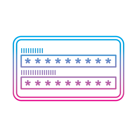 security access password login protection vector illustration degrade color line graphic
