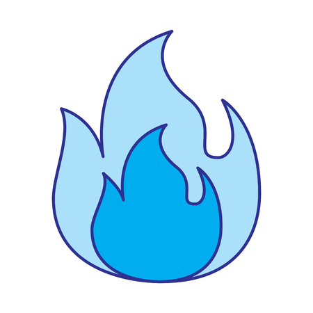 fire flame burning danger hot image vector illustration blue image