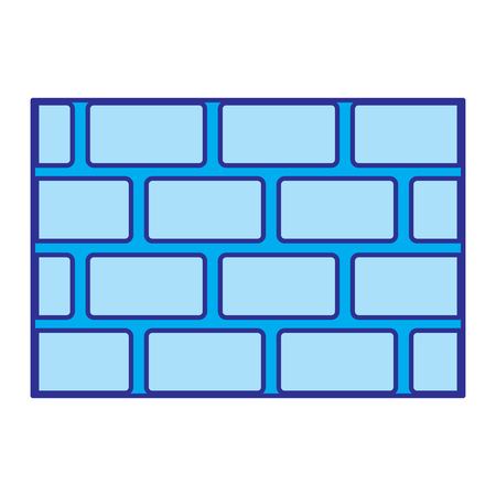 brick wall blocks construction concrete image vector illustration blue image
