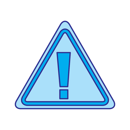 sign board warning alert error symbol vector illustration blue image