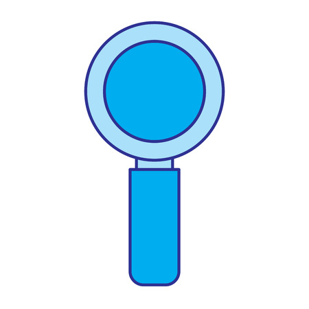 magnifier search technology research information vector illustration blue image Illustration