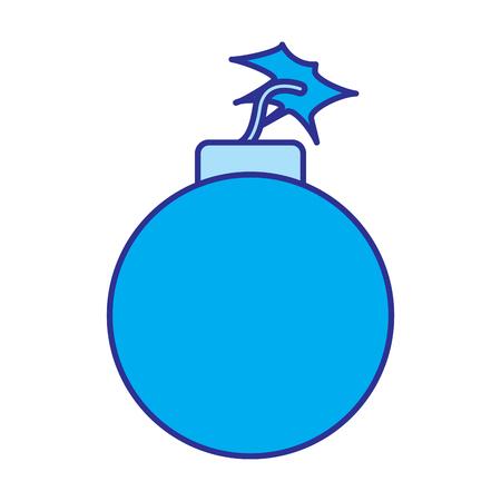 bomb danger explotion error attack icon vector illustration blue image