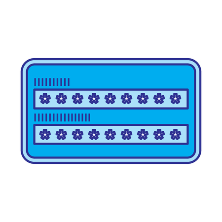 security access password login protection vector illustration blue image
