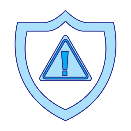 shield protection warning alert error data vector illustration blue image