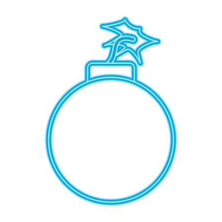 bomb danger explotion error attack icon vector illustration blue neon line image