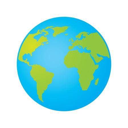 Globus Karte.Globus Welt Erde Planeten Karte Symbol Vektor Illustration