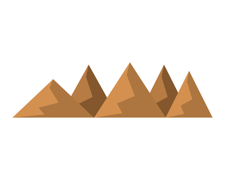silhouettes of hills and mountains from dessert vector illustration