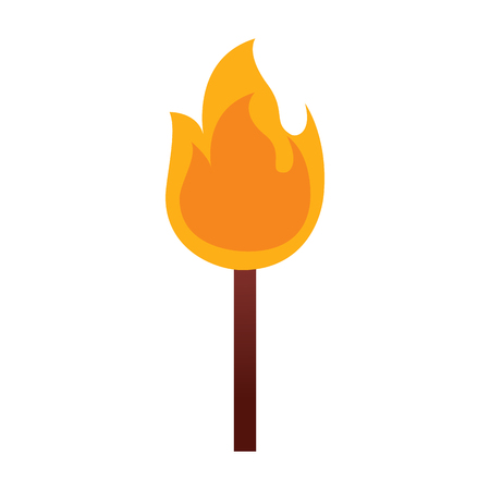 fire stick burn hot flame icon vector illustration Banco de Imagens - 96041744