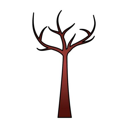 죽은 가지 벡터 일러스트와 함께 나무