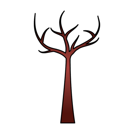 Tree with dead branches vector illustration