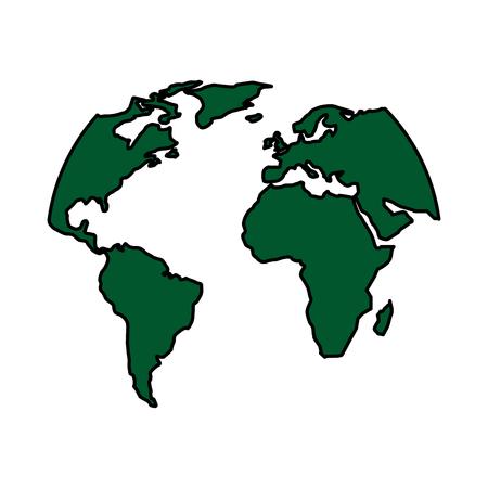 ワールド マップ ベクターの図  イラスト・ベクター素材