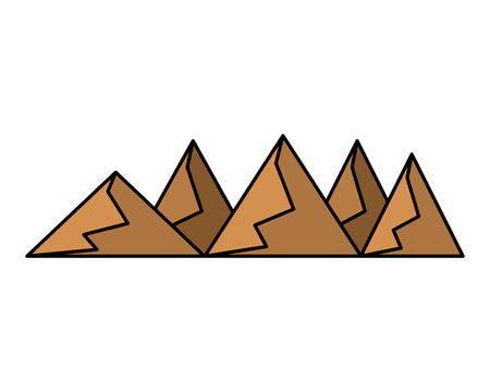 Hills and mountains from dessert vector illustration