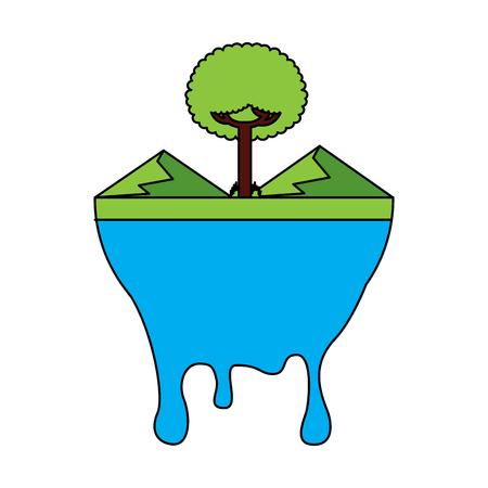 Melted landscape warning vector illustration Reklamní fotografie - 96163135