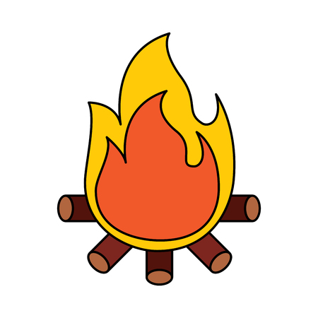 Bonfire vector illustration
