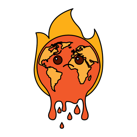 Melted Earth vector illustration Illustration