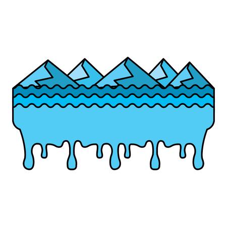 Melted landscape disaster vector illustration
