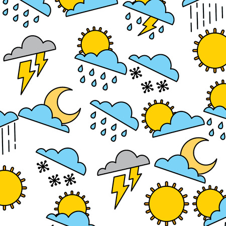 Weather background vector illustration