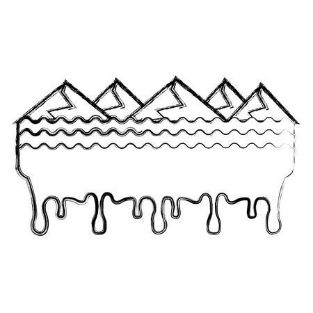 melted landscape mountains water disaster vector illustration Stockfoto - 96055570
