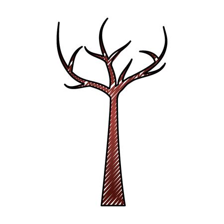 死枝を持つ木ドライエコロジーベクトルイラスト描画グラフィック  イラスト・ベクター素材