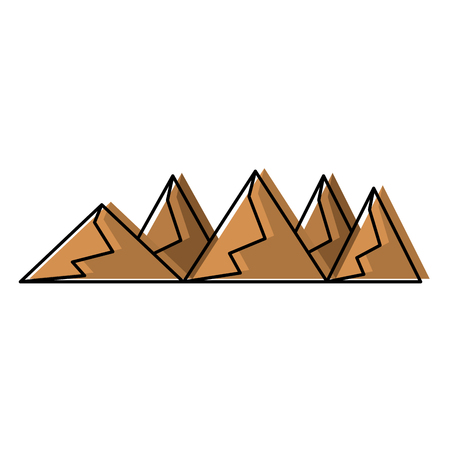 Silhouettes of hills and mountains from dessert vector illustration Illustration