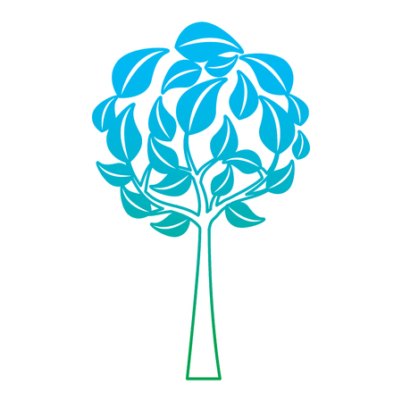 Eco round tree illustration.