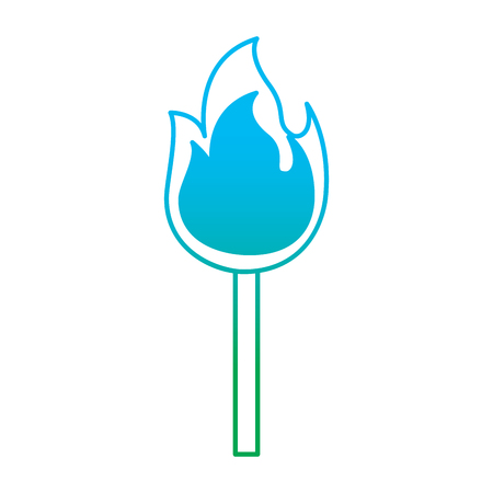 Matchstick icon illustration. 向量圖像