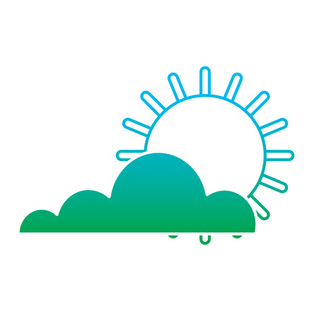 Sun and cloud summer hot forecast concept illustration Stock Vector - 96061276